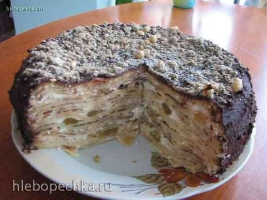 Торт блинный с творогом в мультиварке Panasonic SR-TMH18