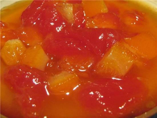 Варенье из арбузной мякоти с апельсином