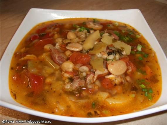Суп из бобовых и зерновых ( Cuckoo 1054)