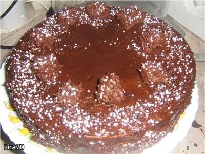Торт шоколадный с трюфелями