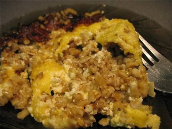 Перловка со сметаной и сыром(Cuckoo 1054)