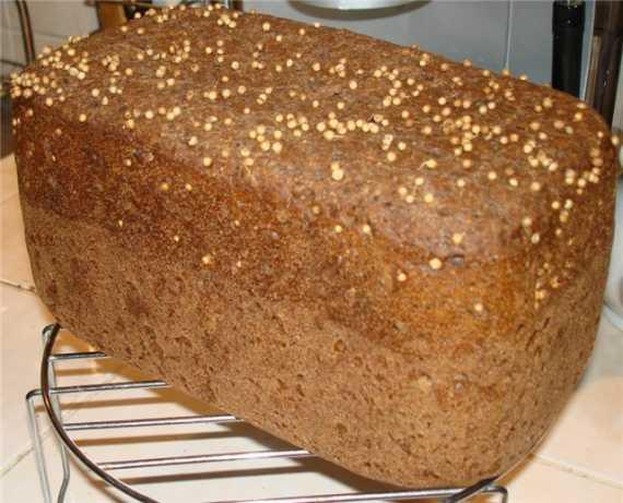 Хлеб «Бородинский» (модифицированный рецепт от Moulinex) (хлебопечка)