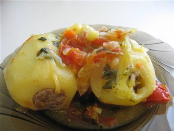 Картофель фаршированный с овощами ( Cuckoo 1054)