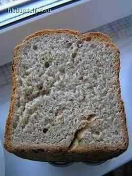 Хлеб с салом (хлебопечка)