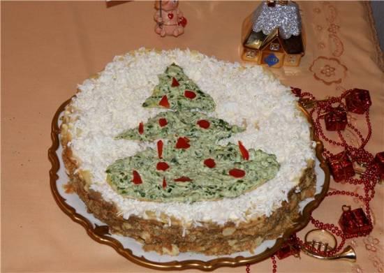 Торт закусочный «Подарок к Рождеству»