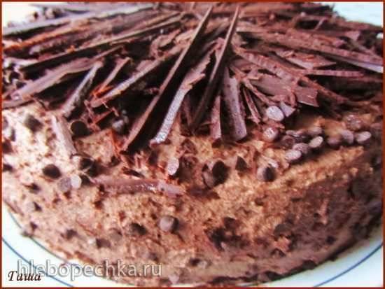 Торт Шоколадно-брусничный