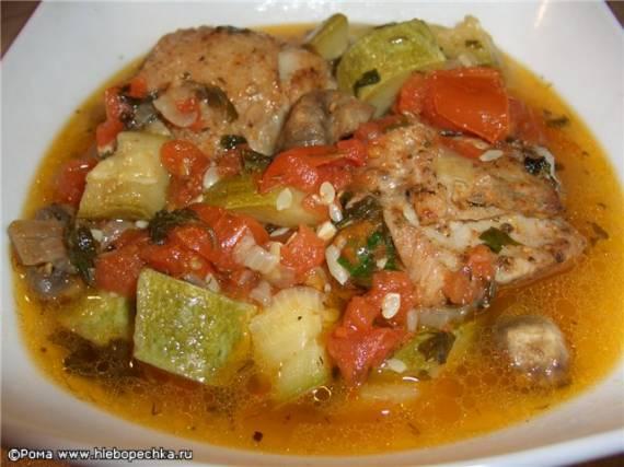 Курица с овощами в собственном соку ( Cuckoo 1054)