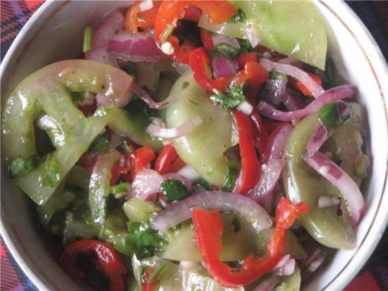 закуски из зелёных помидоров на зиму