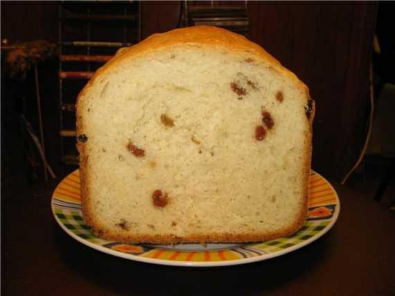 Bork. Белый хлеб с изюмом Bork. Белый хлеб с изюмом