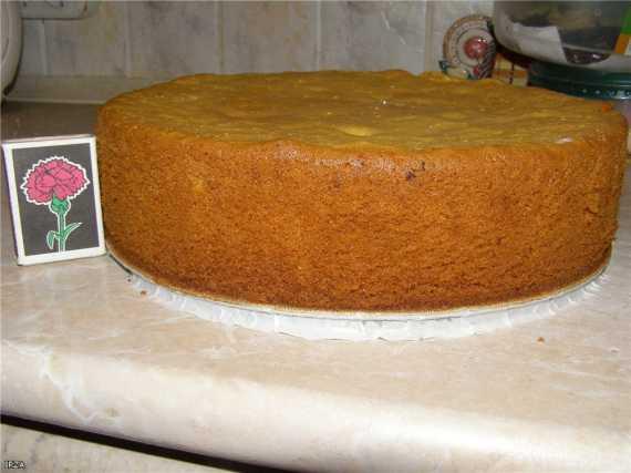 Медовый бисквит (без соды)