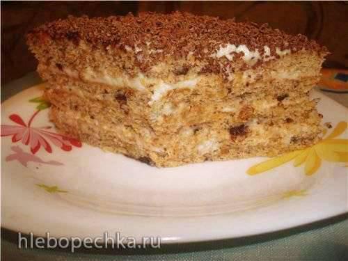 Торт Ореховый  с яблоками