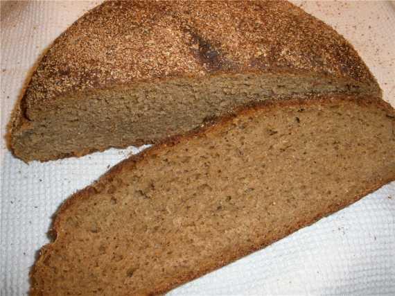 Ржано-пшеничный хлеб на опаре из сухого кваса (духовка)