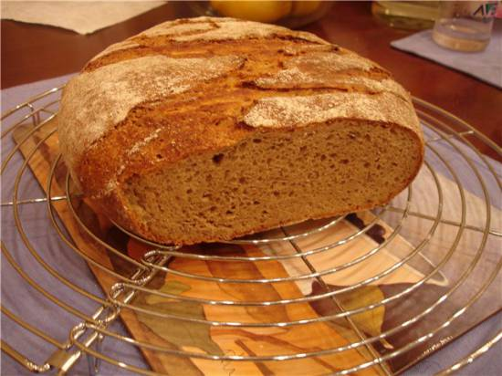 Пшенично-ржаной Польский Хлеб с тмином (хлебопечка)