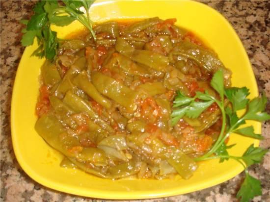 Зелёная фасоль в оливковом масле