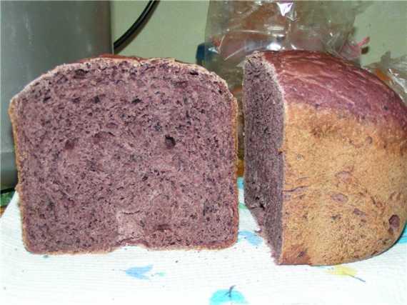 Хлеб Ультравиалетт (с черноплодной рябиной)  (хлебопечка)
