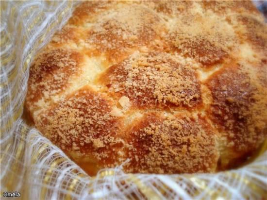 Пирог Ромашка со штрейзелем