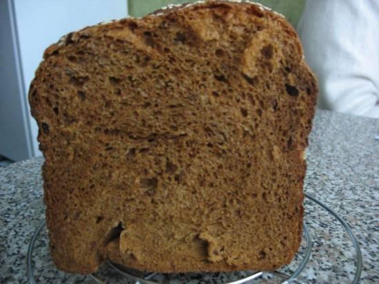 Тёмный хлеб с изюмом в хлебопечке