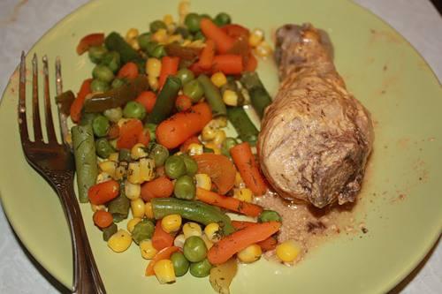 Голень куриная в соусе