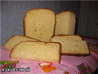 Хлеб пшенично-кукурузный с ржаной мукой