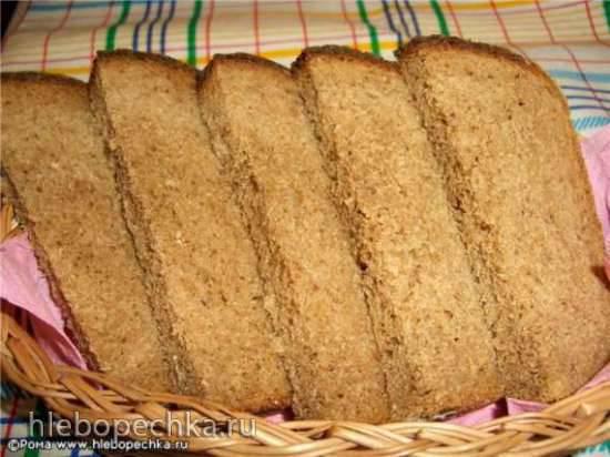Хлеб пшенично-ржаной цельнозерновой с яблочным джемом