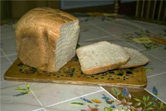 Хлеб с ржаной мукой и тмином в хлебопечке
