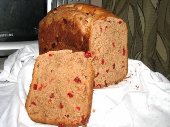 Творожно-шоколадный сдобный хлебушек (хлебопечка)