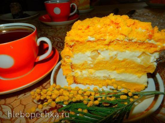Торт бисквитный  «Мимоза»