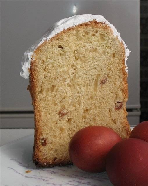 Кулич Вкуснейший на желтках (в хлебопечке)