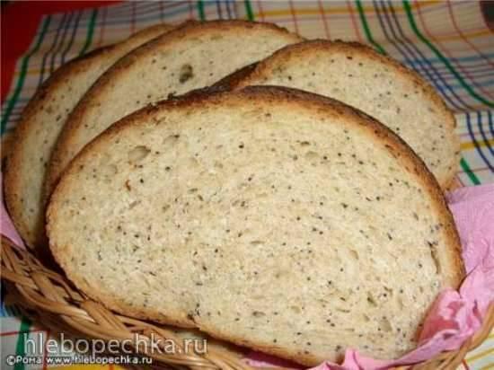 Хлеб пшеничный банановый с маком (духовка)