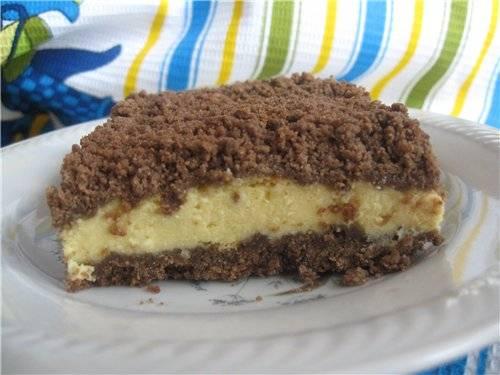 Торт сметанно-творожный с черносливом