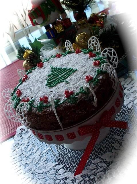 Вегетарианский Рождественский пирог (Vegan Christmas Cake)