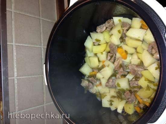 Картофель, тушеный с мясом в мультиварке Brand 6051