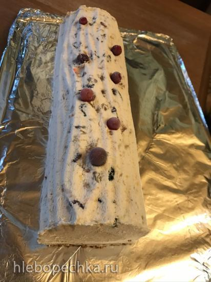 Рождественский  замороженный торт (Iced Christmas Torte)