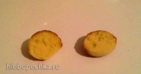 Кексы с изюмом (на желтках)