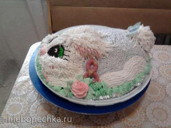 Торт «Зайка» Мастер-класс