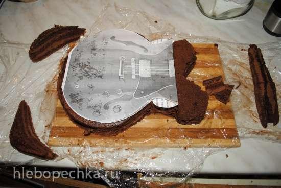 Торт «Электрогитара» (разборной вариант, чтобы в холод. помещался:)) Мастер-класс