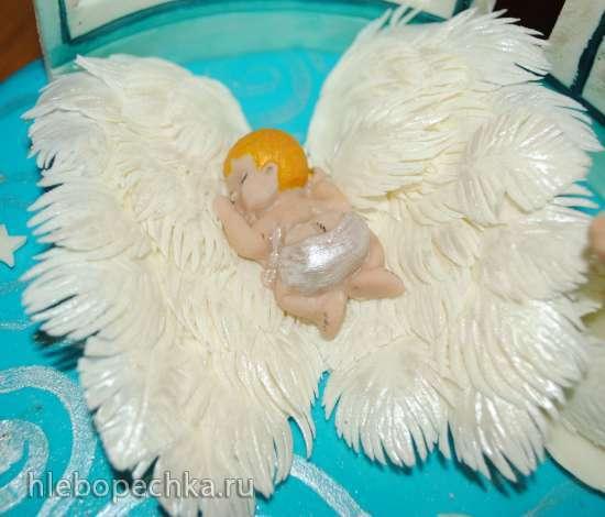 Крылья ангела из мастики