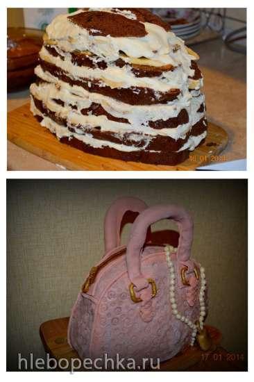 Торт Шоколадно-банановый (по мотивам десерта Селезнева)