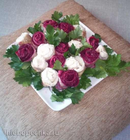 Торт блинный Букет невесты