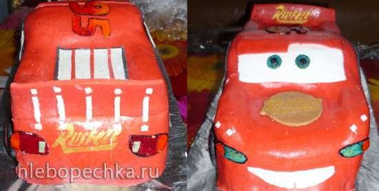 Торт Машина Молния McQueen (мастер-класс)