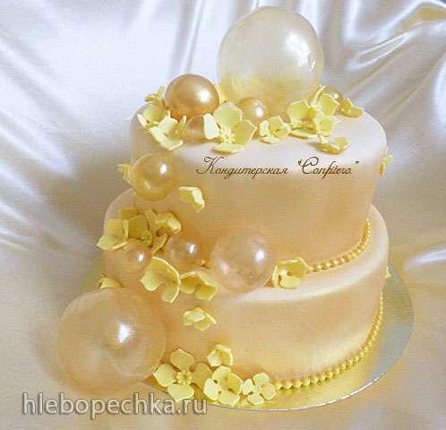 Желатиновые воздушные пузыри для украшения торта