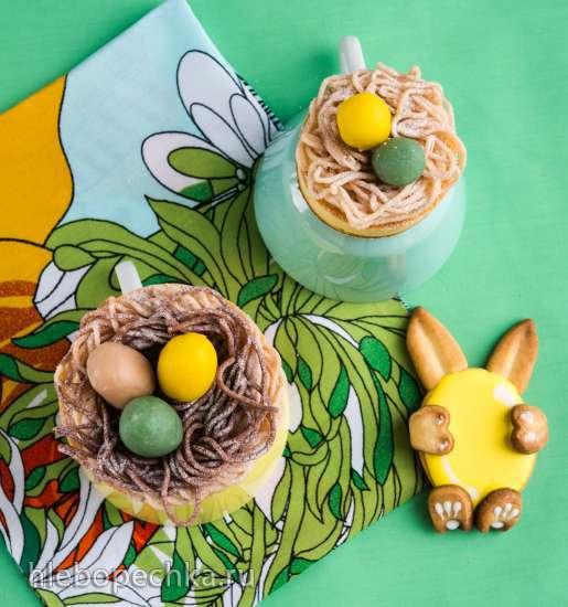 Гнезда с марципановыми яйцами - Nester mit Eiern aus Marzipan