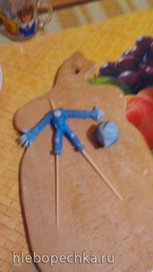 Фиксики из мастики на каркасе