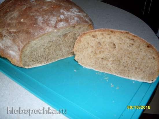 Хлеб на фруктовых дрожжах с солодом