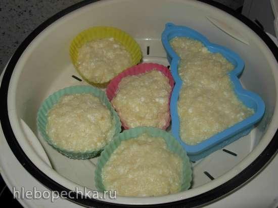 Детские творожно-яблочные кексы на пару