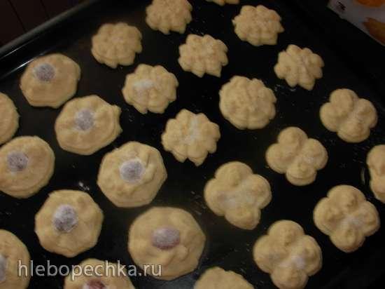 Творожное  печенье (пресс-шприц для теста Tescoma)