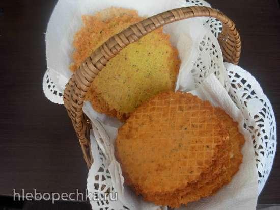 Хрустящее сырное печенье 2 (для вафельницы)