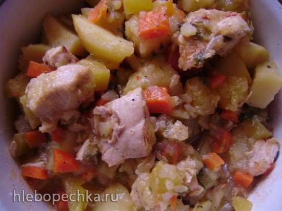 Рагу  из курицы  с овощами в мультиварке