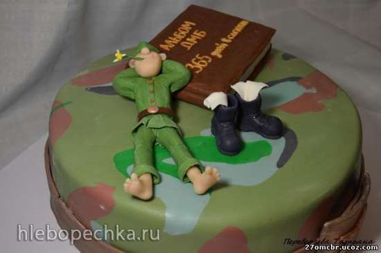 Торты с солдатом с фото