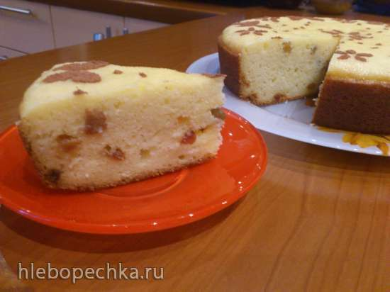 Творожно-манный кекс в мультиварке Bork U700